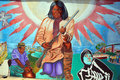 Mural tell the story of mexicans americans people san diego usa april in old town san diego state historic park located in old Royalty Free Stock Photo