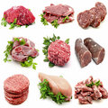 Mural various meats Stock Image