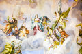 Mural on the wall a in a temple in vienna austria Stock Photography