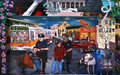 Murals of balmy alley san francisco california usa mexican paintings street art Royalty Free Stock Photo