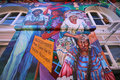 Murals of balmy alley san francisco california usa mexican paintings street art Royalty Free Stock Photography