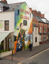 Murals in belfast northern ireland have become symbols of northern ireland depicting the region s past and present political and Royalty Free Stock Photo