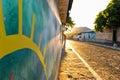 Murals on homes at Conception de Ataco in El Salvador