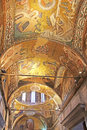 Murals under the dome in the Church of the Holy Savior Outside the Walls