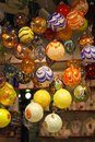 Murano glass baubles decorative colorful Stock Images