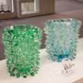 Murano glass vases on display at homi home international show in milan italy january and point of reference for all those the Stock Photos