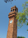Murano island the bell tower of san giacomo Royalty Free Stock Photo