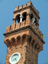 Murano island the bell tower of san giacomo Stock Image
