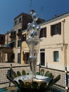 Murano island garibaldi street near vaporetto station at italy Stock Photos