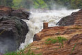 Murchison falls in africa whitewater scenery at the uganda Stock Image