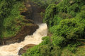 Murchison falls from below in uganda seen Stock Photo