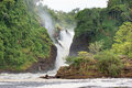 Murchison falls the in uganda africa Stock Images