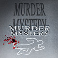 Murder mystery outline on a street Stock Images