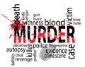 Murder tags concept tag cloud artwork Royalty Free Stock Images