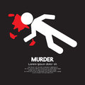 Murder vector silhouette of the dead man painted on the ground illustration Stock Photography