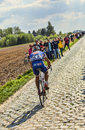 Murilo antonio fischer paris roubaix carrefour de l arbre france april the brazilian cyclist from fdj fr team riding on the famous Stock Photos