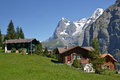 Murren eiger view of the from in switzerland Royalty Free Stock Images