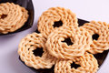 Murukku is a savoury snack from india popular in south Royalty Free Stock Photos