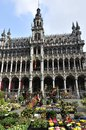 Musée de la ville de bruxelles the historical building of the museum and flower market on grand place in brussels belgium Stock Photo