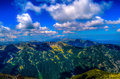 Musala view from the highest peak in the entire balkan peninsula standing at m Stock Photography