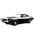 Muscle car profile vector illustration Stock Images