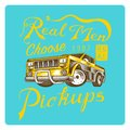 Muscle car for T-shirt, Vintage transport. Classic Retro old school auto service. Poster or Banner. Engraved hand drawn Royalty Free Stock Photo