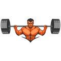 Muscle man bodybuilder