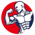 Muscle man pose vector of Royalty Free Stock Photo