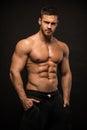 Muscled male model Konstantin Kamynin Royalty Free Stock Photo