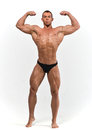 Muscled male model Royalty Free Stock Photo