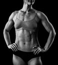 Muscular female body Royalty Free Stock Image