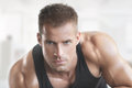 Muscular hot guy fit male model portrait Royalty Free Stock Photo