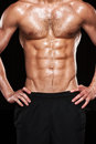 Muscular male torso sexy muscle figure Royalty Free Stock Photos