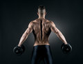 Muscular man weightlifting Royalty Free Stock Photo