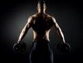 Muscular man weightlifting Royalty Free Stock Photo