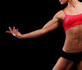 Muscular strong woman Stock Photo