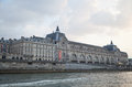 Musee d Orsay, River Seine, Paris, France Royalty Free Stock Photo
