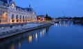 Musee D'Orsay and Seine River at Dawn, Paris France Royalty Free Stock Photo