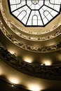Skylight and stairs at Vatican Museum Royalty Free Stock Photo