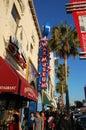 Museo della cera nella camminata di Hollywood di fama Fotografia Stock