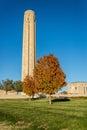 Museo di liberty memorial national world war i in autunno caduta Fotografia Stock Libera da Diritti