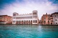 Museo di storia naturale view of the natural history museum in venice over the grand canal Stock Image