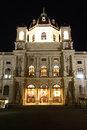 Museum of art history of vienna at night aka fine arts in the austrian capital city austria the main building the Stock Photos