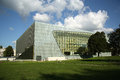 Museum of the history of polish jews in warsaw poland building it is a new on site ghetto opened on april Stock Images
