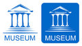 Museum icons Stock Images