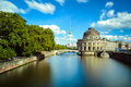 Museum island on spree river berlin and the tv tower Stock Photography
