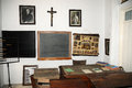Museum of local history classroom small private in capelas a small town at the north coast sao miguel azores islands portugal a Royalty Free Stock Images