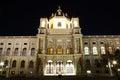 Museum of Natural History of Vienna at night Royalty Free Stock Photo