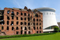 Museum panorama Stalingrad fight Destroyed mill Volgograd Stock Image