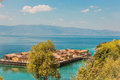 Museum on water - Bay of the bones - Ohrid, Macedonia Royalty Free Stock Photo